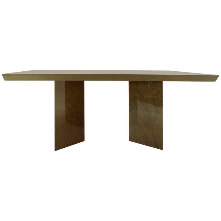 Inlay Extendable Table by Giovanni Offredi for Saporiti, 1980s For Sale