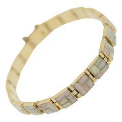 Inlay Opal Gold Bracelet
