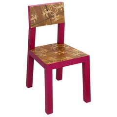 Inlay Red Chair by Marcantonio