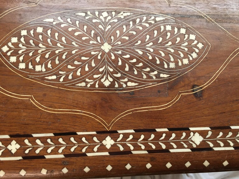 Inlay Teak Chest on Stand, Early 1900s For Sale 4