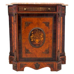 Inlayed Cabinet Commode, Italy, 1860s