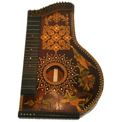 Inlayed String Instrument as Ornamentation/Sculpture