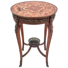 Inlayed Table, Northern Europe, circa 1900, Antique