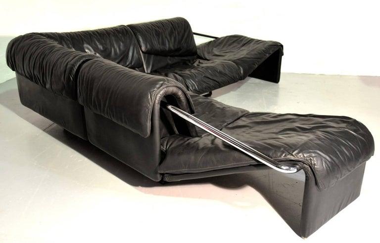 Mid-Century Modern Inmotion Leather Corner Sofa by De Sede of Switzerland, 1970s