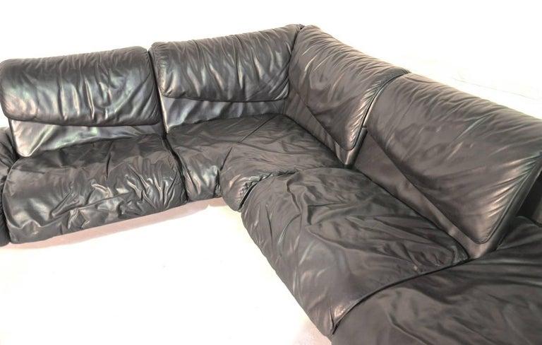 Inmotion Leather Corner Sofa by De Sede of Switzerland, 1970s In Good Condition In Fen Drayton, Cambridgeshire