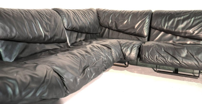 Late 20th Century Inmotion Leather Corner Sofa by De Sede of Switzerland, 1970s