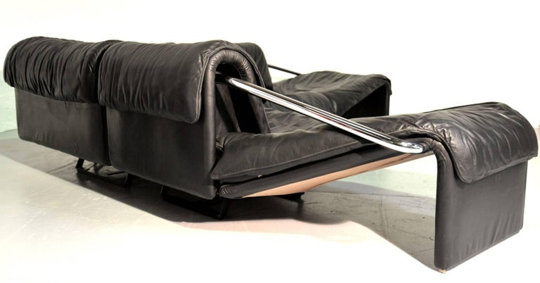 Swiss Inmotion Leather Corner Sofa by De Sede of Switzerland, 1970s