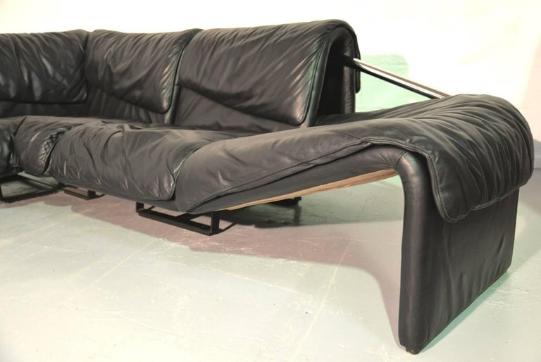 Inmotion Leather Corner Sofa by De Sede of Switzerland, 1970s 5