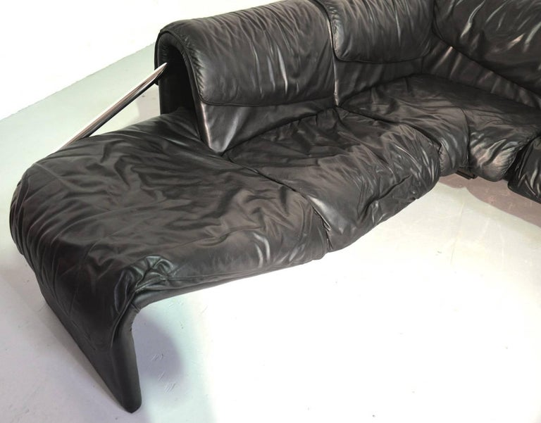 Inmotion Leather Corner Sofa by De Sede of Switzerland, 1970s 3