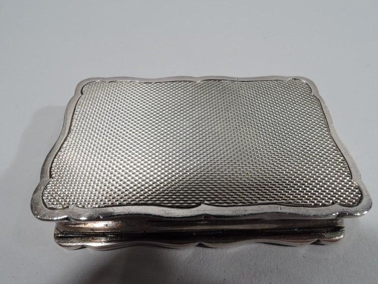 Modern Innovative English Sterling Silver Snuffbox-Cum-Portable Ashtray