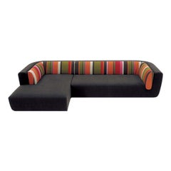 Inntil Black and Multi-Color Sectional Sofa by MissoniHome