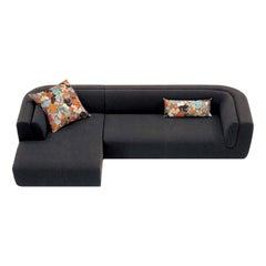 Inntil Black Sectional Sofa