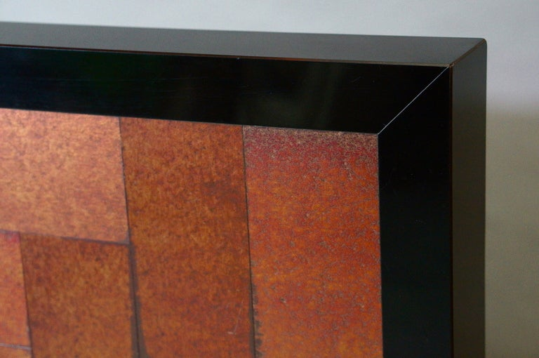 Formica Inox Coffee Table, circa 1970 For Sale