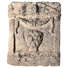 Inscribed Roman naiskos type stele, 1st century AD