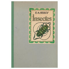 Insectes E.A. Seguy Portfolio of 20 Beautiful Pochoir Plates