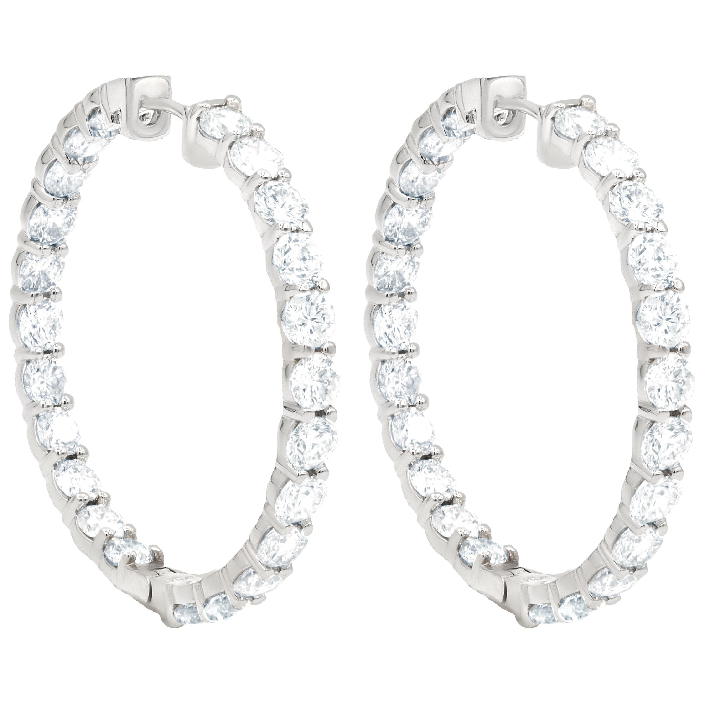 Inside Out 11.00 Carat Diamond Hoops Earrings '0.20 Carat'