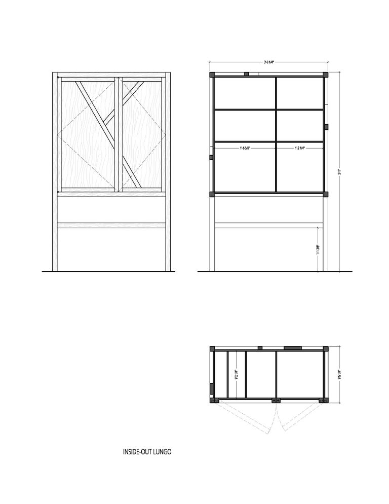 Contemporary Inside-Out Credenza Lungo, Fine Cupboard Lacquer Finish, Liquor Buffet (Walnut) For Sale
