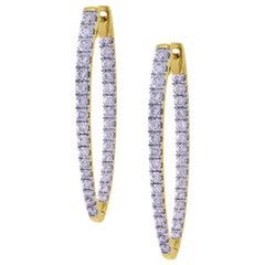 18 Karat Gold Inside Out Diamond Hoop Earrings