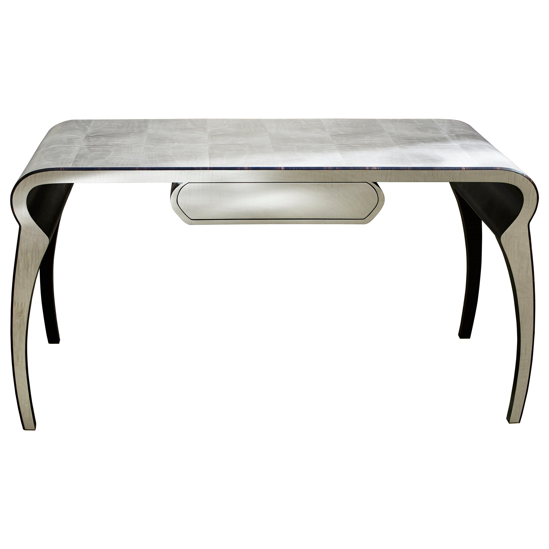 """Inside Story"" 21st Century Desk, Ebony and Grey Maple by Ivan Paradisi"