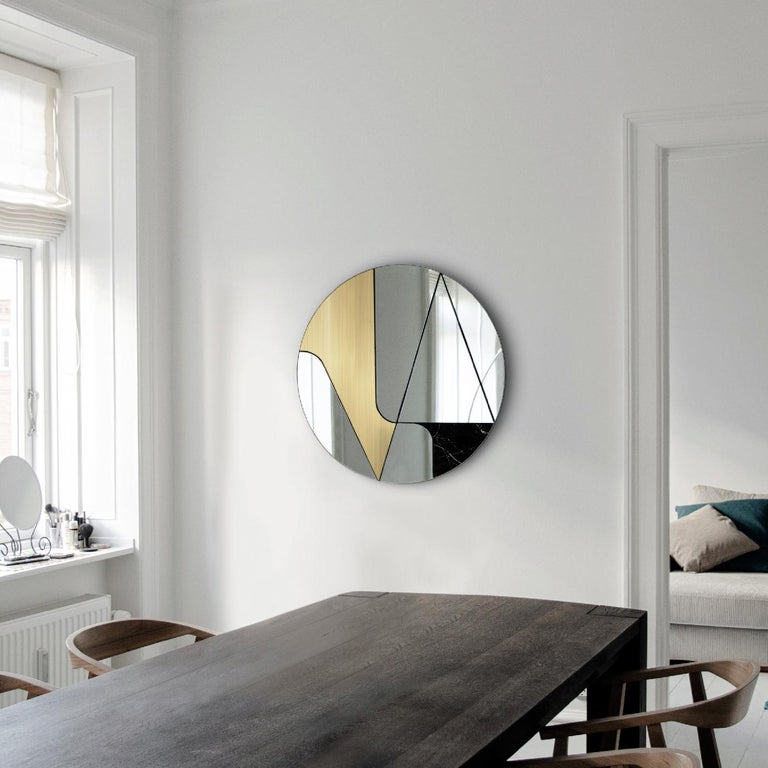 Insula II Mirror by Atlas Project In New Condition For Sale In Milan, IT