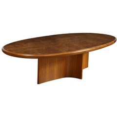 Intaglio Dining Table In Walnut Wood Offered By Vladimir Kagan Design Group