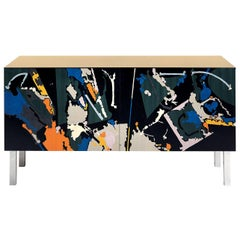 Intarsia Sideboard by Edoardo Franceschini
