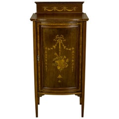 Intarsiated Nightstand or Cabinet, circa 1880