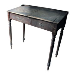 Interesting 19th Century Painted Pine & Graffitied Clerk's Desk, circa 1870