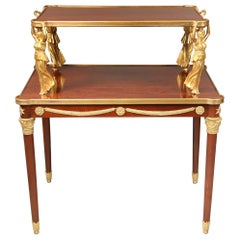 Interesting Late 19th Century Gilt Bronze Mounted Empire Style Tea Table