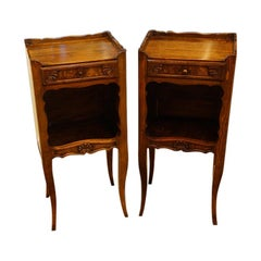 Interesting Pair of French Country Bedside Cabinets, Nightstands