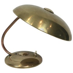 Interesting Small Brass Desk Table Lamp, circa 1930