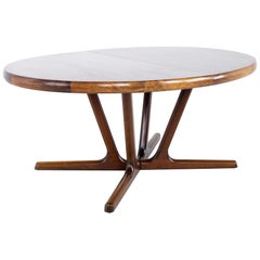 Interform Collection MCM Danish Rosewood 12 Person Expanding Oval Dining Table