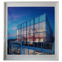 Interior Architectural Rendering of Richard Meier Building Lithograph XL Art