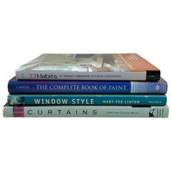 Interior Decor Design & Source Books, Windows, Curtains, Furnishings, Paint, S/4