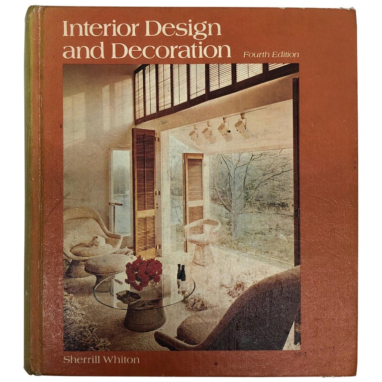 Interior Design and Decoration Hardcover Book For Sale