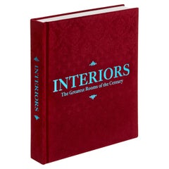 """Interiors The Greatest Rooms of the Century"" 'Merlot Red' Book"