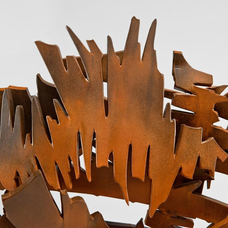 Brushed Interlace, 2003 Sculpture by Albert Paley For Sale