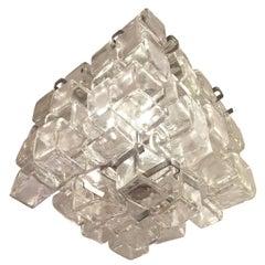 Interlocking Mazzega Murano Glass Chandelier, Italy, 1970s