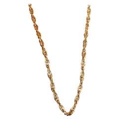 Interlocking Spiral Design Gold Neckchain