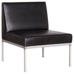 Interlübke Designer Leather Chair Black