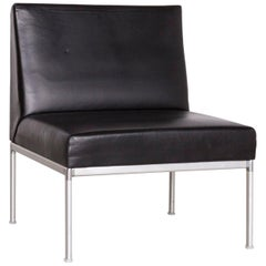 Interlübke Designer Leather Chair in Black