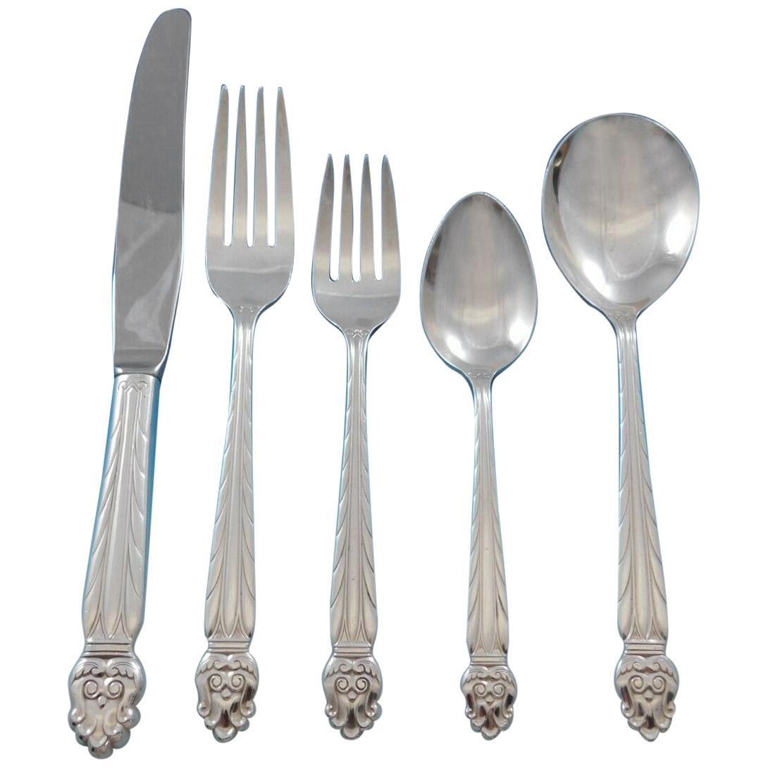 Intermezzo, National Sterling Silver Flatware Set Service 65 Pieces Scandinavian