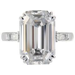 Internally Flawless 5.00 Carat Emerald-Cut Diamond Ring D Color