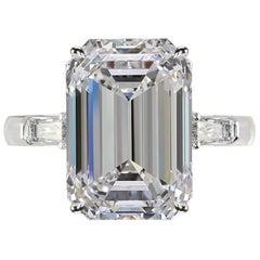 Internally Flawless D Color 5.35 Emerald Cut Diamond Ring