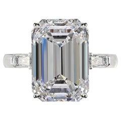 Internally Flawless D Color 5.75 Emerald Cut Diamond Ring