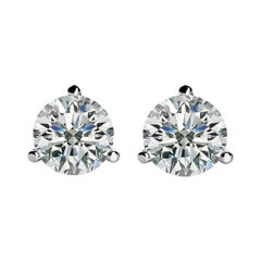 Internally Flawless D Color GIA 2 Carat Round Brilliant Cut Diamond Studs