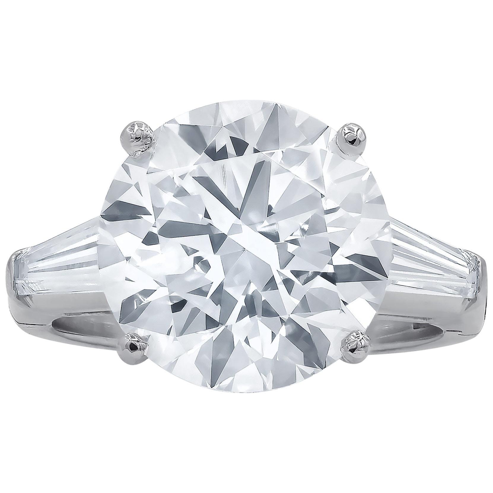 GIA Certified 4 Carat Solitaire Diamond Platinum Engagement Ring