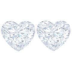 GIA Certified 1.40 Carat Heart-Shape Studs