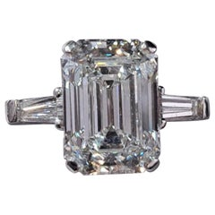 GIA Certified 3.65 Carat Emerald Cut Diamond