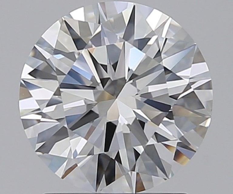 Modern GIA Certified 3.01 Carat GIA Certified Diamond Studs E/F VVS1  For Sale